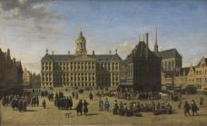 Gerrit Adriaensz Berckheyde - The Dam in Amsterdam大师画家古典画古典建筑古典景物装饰画油画