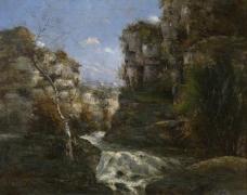 Gustave Courbet - Rocks near Ornans大师画家古典画古典建筑古典景物装饰画油画