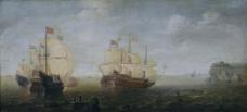 Wieringen, Cornelis Claesz. van - Combate naval, 1629-30大师画家古典画古典建筑古典景物装饰画油画