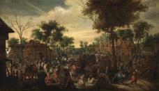 Sebastiaan Vranckx - Plundering of a hamlet大师画家古典画古典建筑古典景物装饰画油画