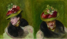 Pierre Auguste Renoir - Double Portrait of Jeanne Baudot法国画家皮埃尔奥古斯特雷诺阿Pierre Auguste Renoir印象派人物油画