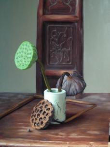 闈欑墿鍣ㄧ墿901 (4)实物杯子罐子器皿静物印象画派写实主义油画装饰画