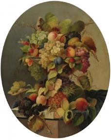 闈欑墿鏋滆敩901 (75)水果疏菜静物油画超写实主义油画静物