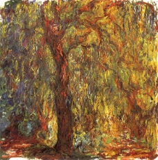 Weeping Willow,法国画家克劳德.莫奈oscar claude Monet风景油画装饰画
