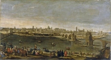 Martinez del Mazo, Juan Bautista - View of the City of Saragossa, 1647大师画家古典画古典建筑古典景物装饰画油画