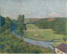 Theo van Rysselberghe - The Valley of the Sambre, 1890大师画家风景画静物油画建筑油画装饰画