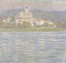 V茅theuil, Grey Effect, 1901法国画家克劳德.莫奈oscar claude Monet风景油画装饰画
