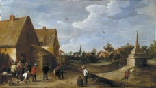 Teniers, David - Juego de bolos, 1650-60大师画家古典画古典建筑古典景物装饰画油画