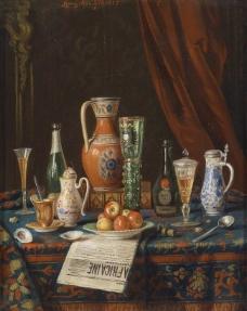 闈欑墿鍣ㄧ墿901 (35)实物杯子罐子器皿静物印象画派写实主义油画装饰画