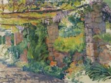 Theo van Rysselberghe - The Arbour, 1911大师画家风景画静物油画建筑油画装饰画