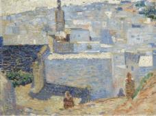 Theo van Rysselberghe - Town in Marocco, 1888大师画家风景画静物油画建筑油画装饰画