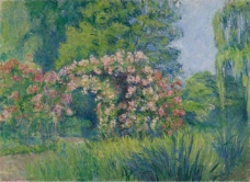 Blanche Hochede-Monet - Giverny, the Rosarium of Monet大师画家风景画静物油画建筑油画装饰画