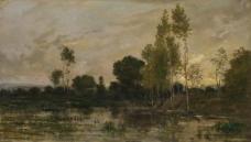 Charles-Francois Daubigny - Alders大师画家古典画古典建筑古典景物装饰画油画