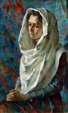 Western-239高清西方现代人物油画国外油画大师人物油画作品