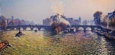 Gustave Cariot - Pont Neuf, Autumn, Bateux-Lavoir, 1940大师画家风景画静物油画建筑油画装饰画