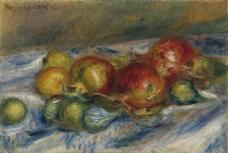 Pierre Auguste Renoir - Still Life with Figs and Granates, 1915法国画家皮埃尔奥古斯特雷诺阿Pierre Auguste Renoir印象