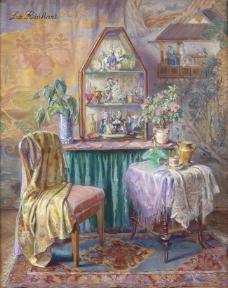 闈欑墿鍣ㄧ墿901 (38)实物杯子罐子器皿静物印象画派写实主义油画装饰画