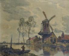 Frank Myers Boggs - The Mill, 1904大师画家风景画静物油画建筑油画装饰画