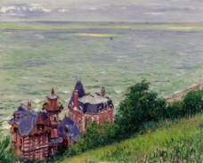 Gustave Caillebotte - Villas at Trouville, 1884大师画家风景画静物油画建筑油画装饰画