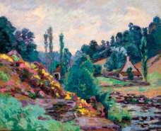 Armand Guillaumin - The Mill of Jonon Creuse, 1906大师画家风景画静物油画建筑油画装饰画