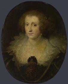 Style of Anthony van Dyck - Portrait of a Woman英国画家安东尼凡戴克Anthony van dyck人物油画装饰画