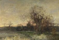 Guillaume Vogels - The Pond大师画家古典画古典建筑古典景物装饰画油画