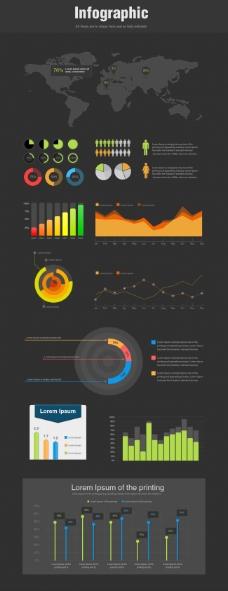 手机素材数据信息图分层界面设计