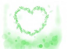 梦幻的树叶心形笔刷