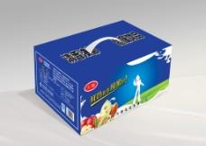 鲜牛奶 牛奶包装(展开图)图片