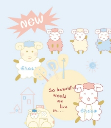 卡通 羊图片