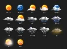 手机天气图标  采集大赛