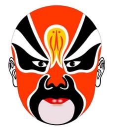 脸谱红色传统文化