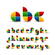 七巧板创意字母设计