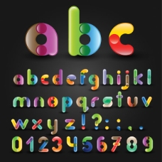 彩色英文字母创意设计