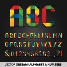 折纸字母与数字