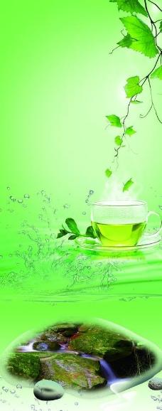 茶水展板图片