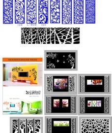 电视背景墙雕刻图案设计图片