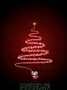 圣诞老人圣诞树图片