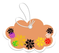 歐式矢量花紋 吊牌圖片