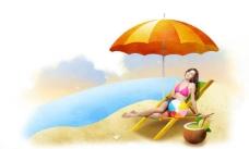 沙滩娱乐图片