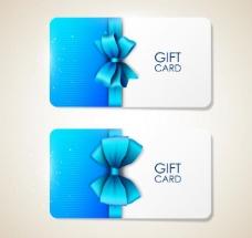 蓝色蝴蝶结卡片图片