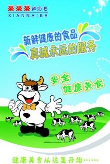 奶牛展板图片