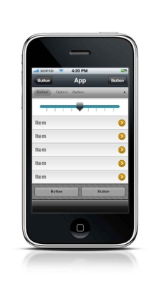 手机APP列表模版PSD素材