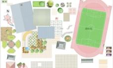 psd建筑贴图 总图素材图片