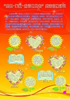 感恩奉献活动展板图片