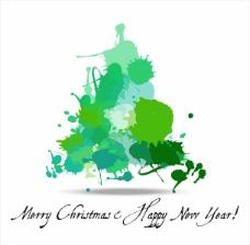 绿色创意圣诞树