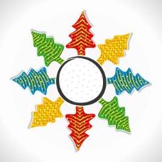 创意圣诞树节日矢量素材