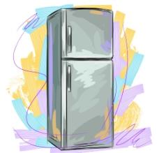 手绘冰箱图片
