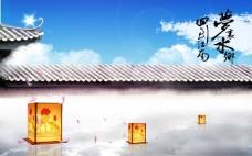 江南城墙花灯