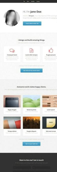 扁平化网页设计图片